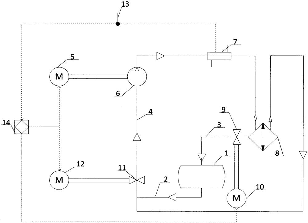Система охлаждения тягового преобразователя электротягового рельсового транспортного средства