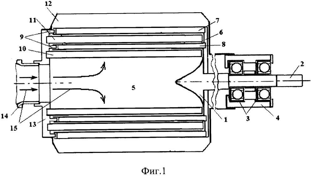 Многоступенчатая газовая силовая турбина с консольным расположением