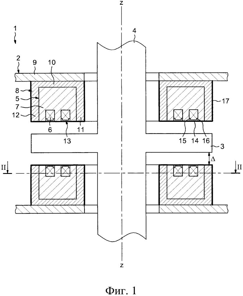 Магнитный подшипник, ротационная установка, содержащая упомянутый подшипник, и способ изготовления такого подшипника