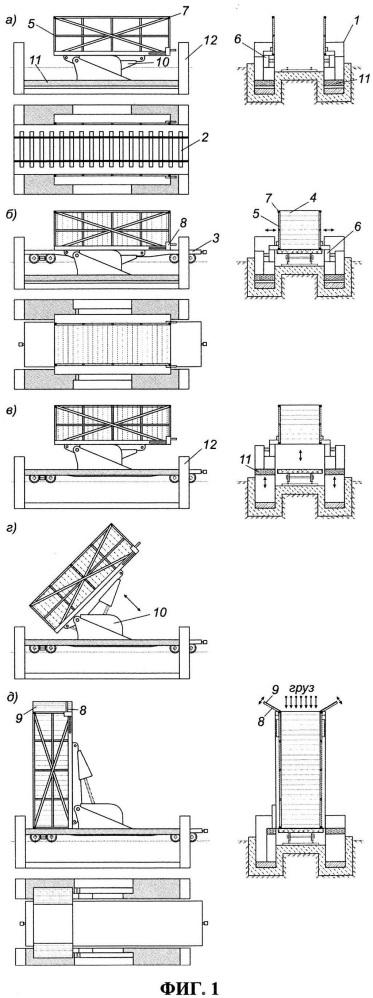Способ загрузки насыпных грузов в контейнеры, перевозимые железнодорожными платформами