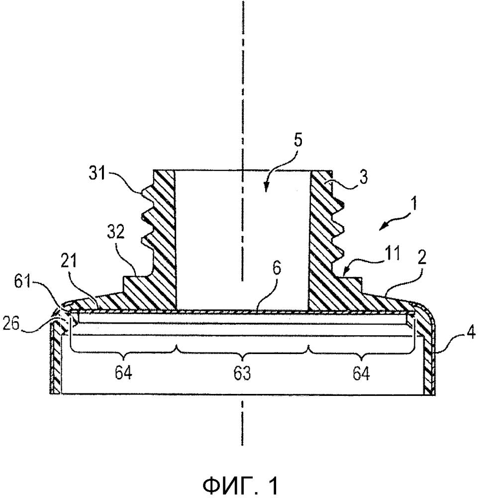 Усовершенствованная головка тубы, содержащая вставку, образующую барьер