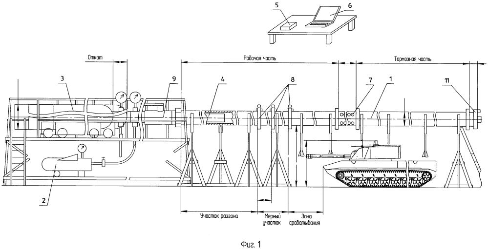 Комплекс для оценки эффективности электромагнитной защиты бронеобъектов от средств поражения с неконтактным взрывным устройством