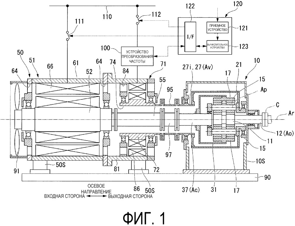 Система регулируемого электрического двигателя и устройство с электрическим приводом