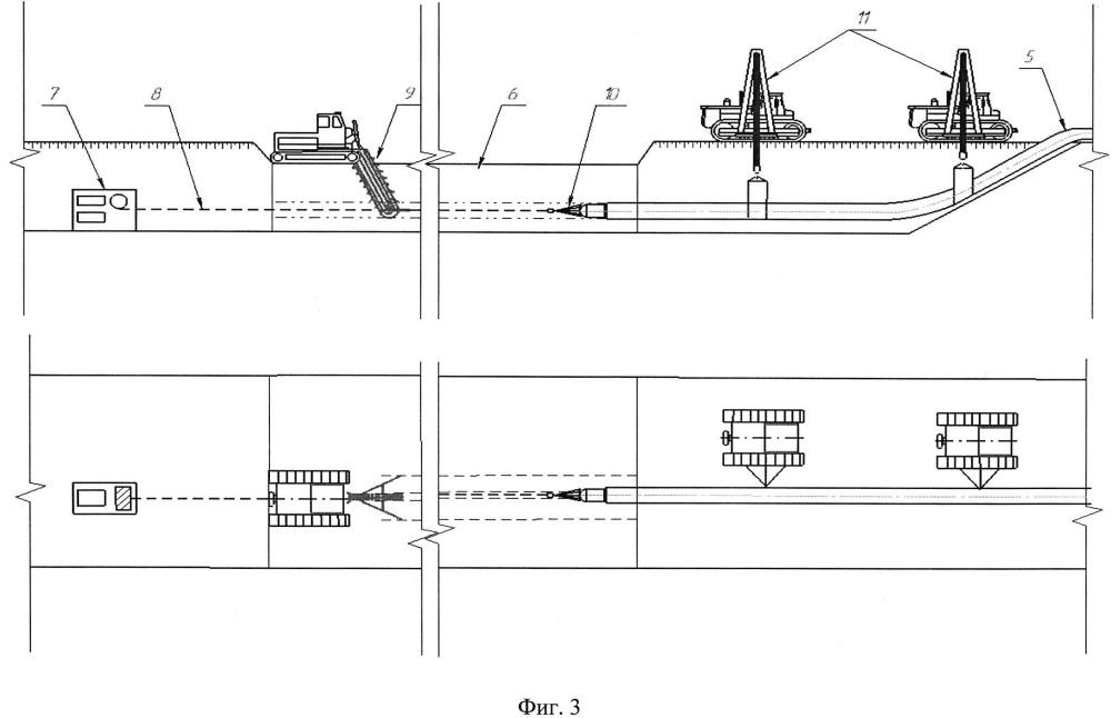 Способ прокладки подземного трубопровода в болотистой местности на болотах i типа