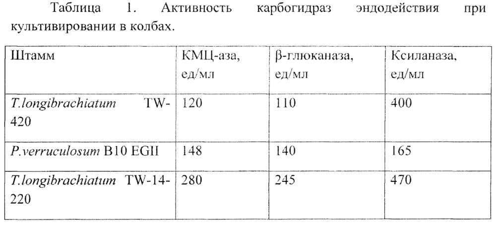 Штамм мицелиального гриба trichoderma longibrachiatum tw-14-220 - продуцент целлюлаз, бета - глюканаз и ксиланаз для кормопроизводства и способ получения кормового комплексного ферментного препарата