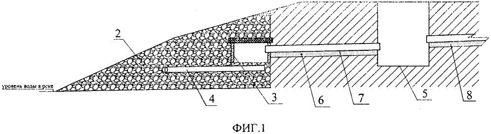Способ строительства устья дренажной системы