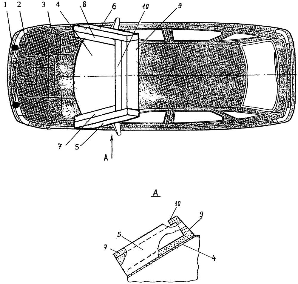 Устройство к легковому автомобилю для защиты водителей велосипедов