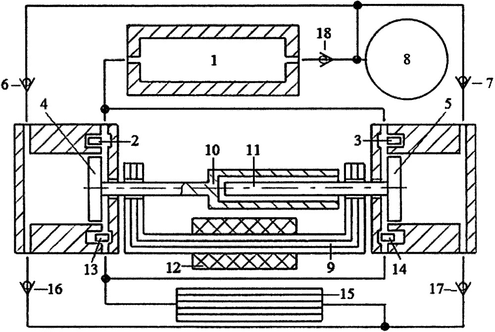 Способ трансформации тепловой энергии в электроэнергию двухцилиндровым свободнопоршневым энергомодулем с оппозитным движением поршней, линейным электрогенератором, теплообменником и холодильником