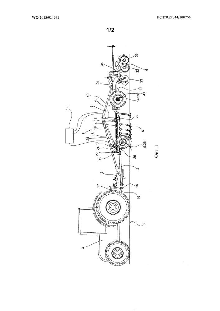 Почвообрабатывающее орудие с устройством обратного прикатывания