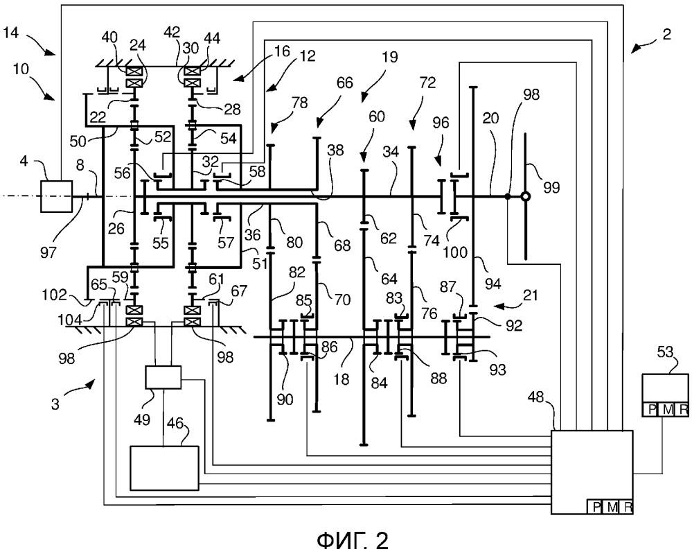 Способ для запуска двигателя внутреннего сгорания в гибридной трансмиссии и транспортное средство с такой гибридной трансмиссией
