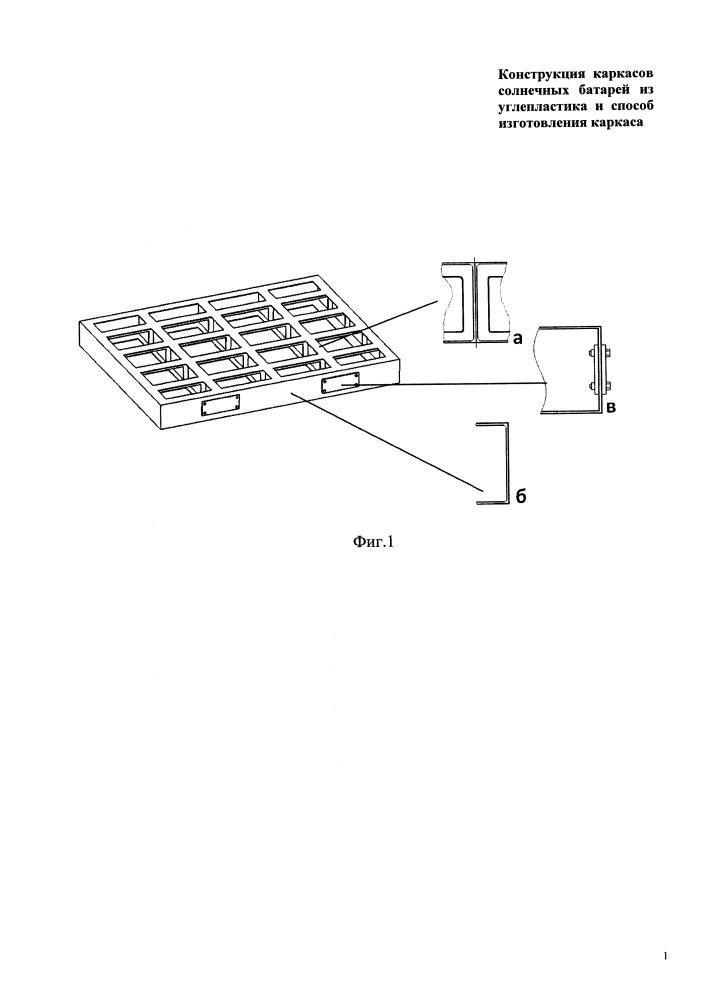 Конструкция каркасов солнечных батарей из углепластика и способ изготовления каркаса