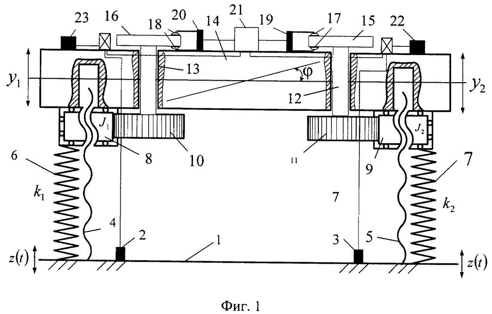 Способ динамического гашения колебаний объекта защиты и устройство для его осуществления