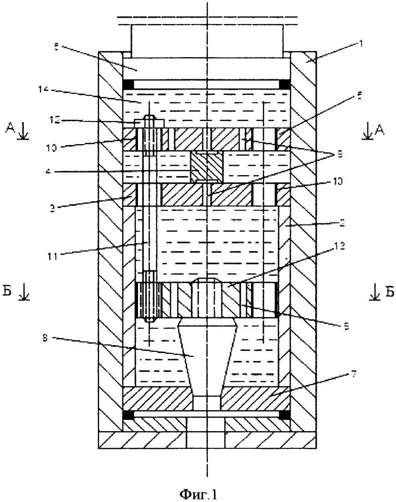 Устройство для испытания образца материала на сжатие при высоких гидростатических давлениях