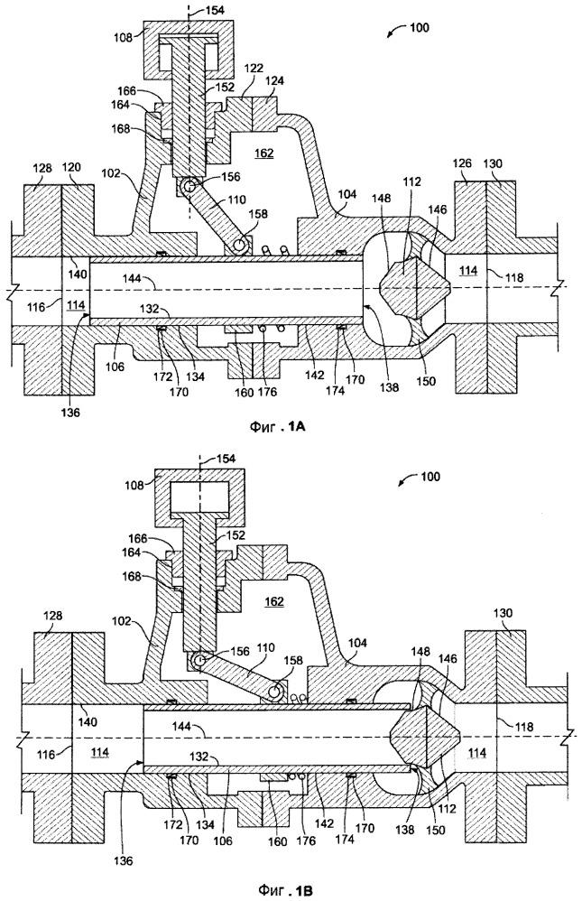 Осевые клапаны для текучей среды с кольцевыми элементами управления потоком