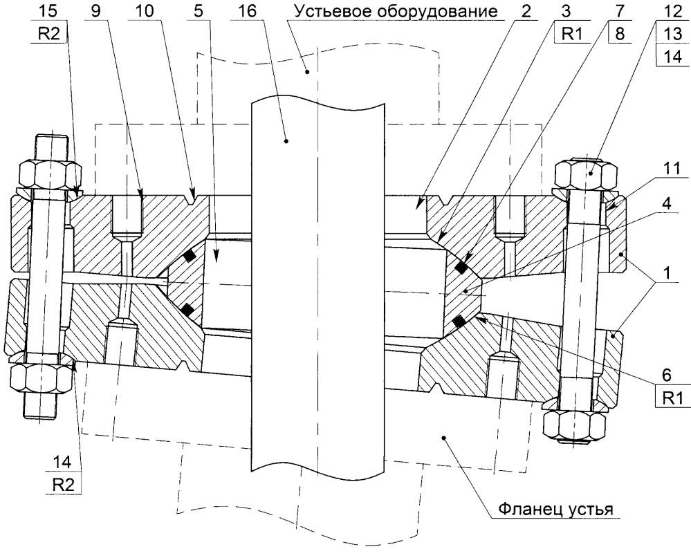 Фланцевое соединение устьевого оборудования
