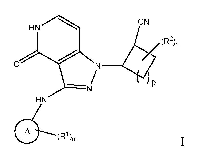 Циклоалкилнитрилпиразолопиридоны в качестве ингибиторов янус-киназы