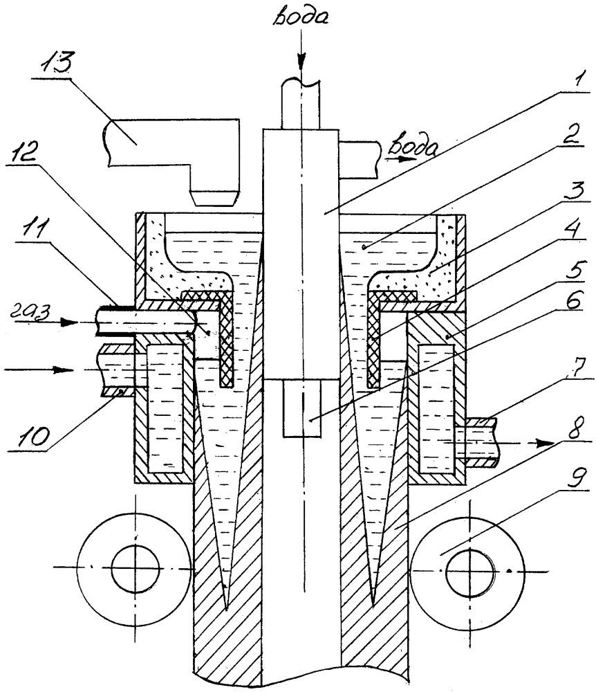 Способ вертикального непрерывного литья труб и устройство для его осуществления