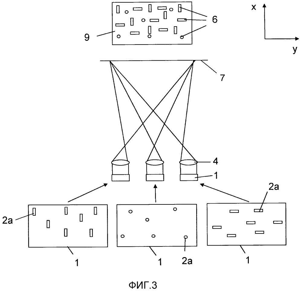 Лазерный прибор для проецирования структурированной картины освещения на сцену