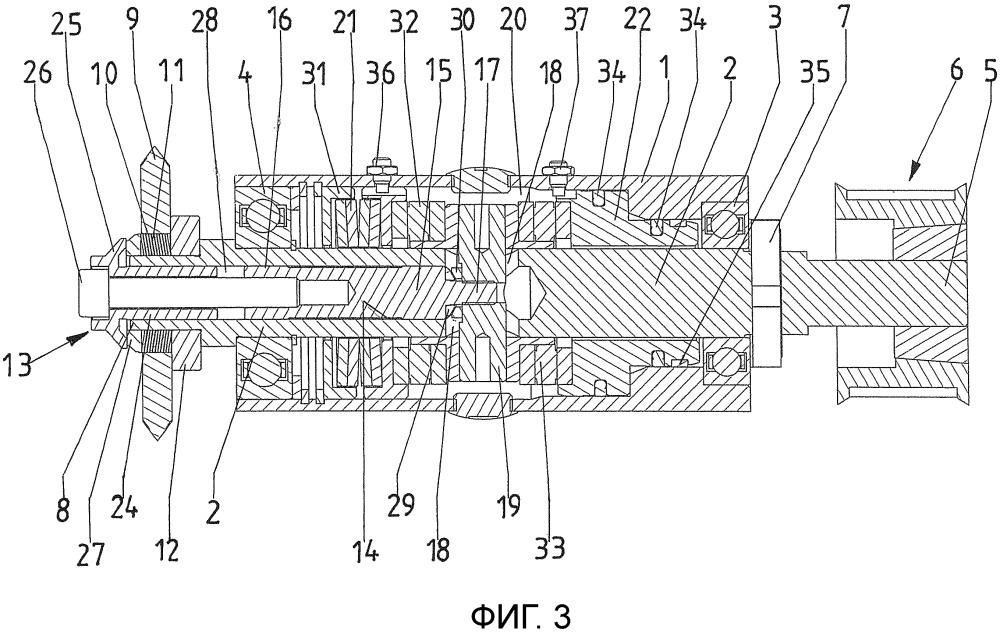 Приводимое в действие механически устройство, в частности фрезерное устройство