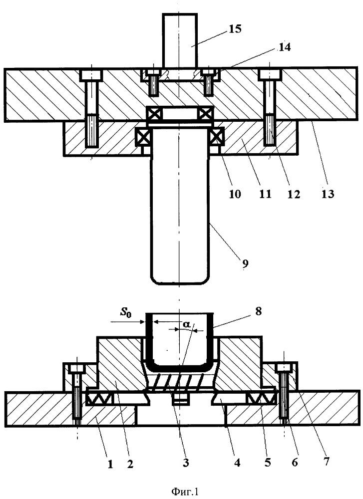 Способ формирования рифлей ромбовидной формы на наружной поверхности цилиндрической оболочки