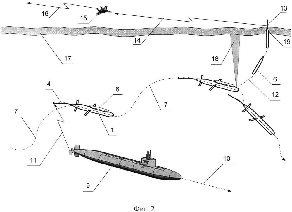 Способ и устройство освещения подводной обстановки