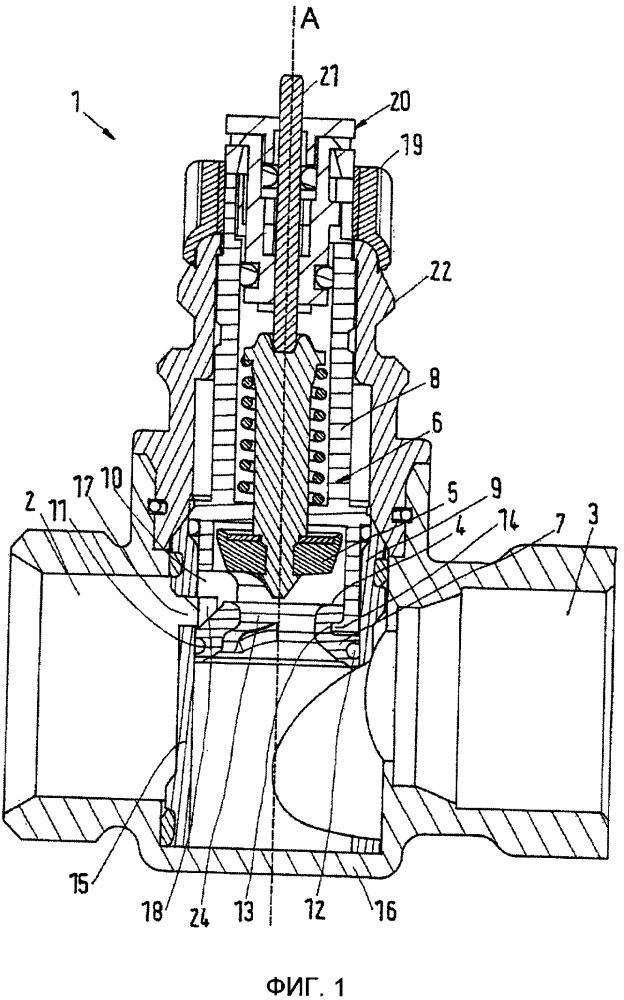 Клапан и седельный элемент клапана