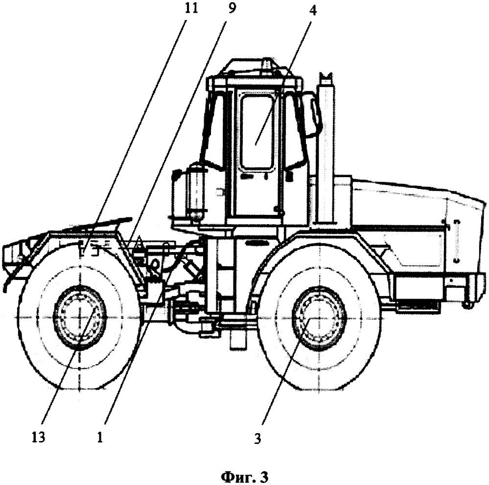 Прижимное догружающее устройство трактора полурамной компоновки