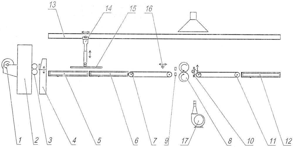 Установка для изготовления листового композиционного теплораспределяющего материала