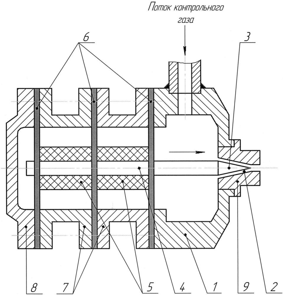 Устройство для регулирования потока контрольного газа