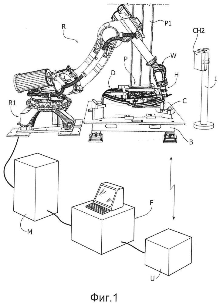 Зажимная головка с беспроводным устройством для зажима обрабатываемых деталей