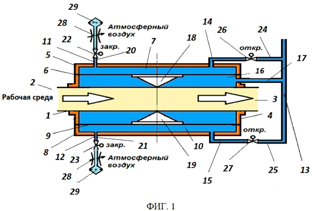 Запорный шланговый клапан