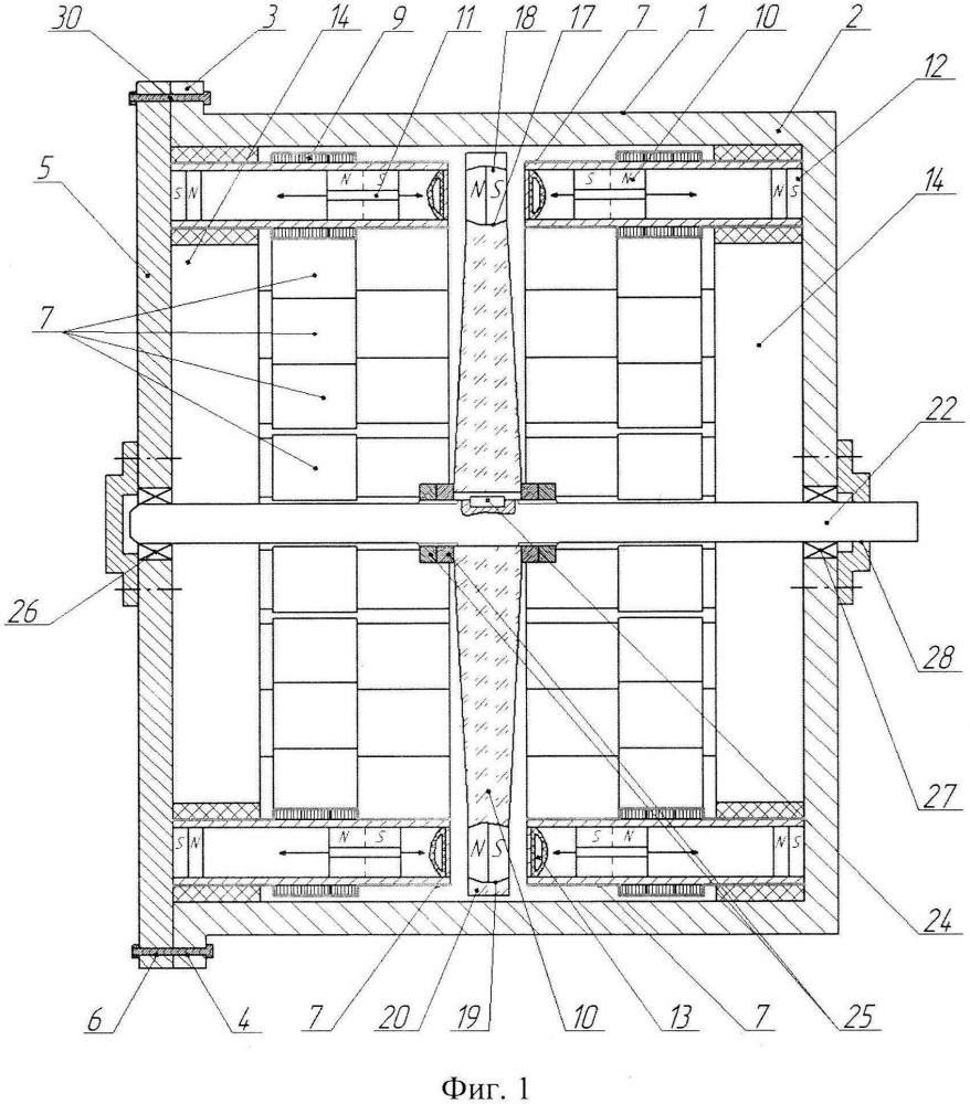 Тихоходный линейный магнитоэлектрический генератор с плоскими катушками (тилимэг пк)