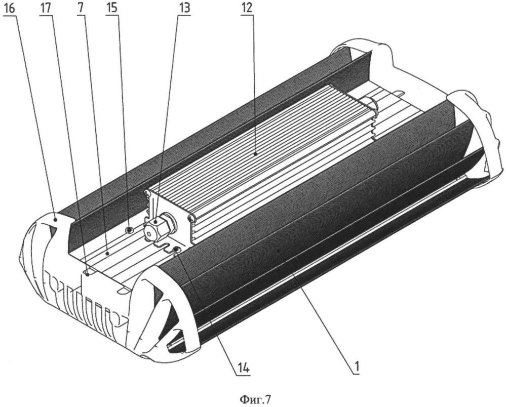 Светильник светодиодный (варианты) и теплоотводящий профиль в качестве корпуса светильника