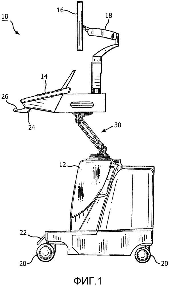Панель управления ультразвуковой системы и подъемник дисплея