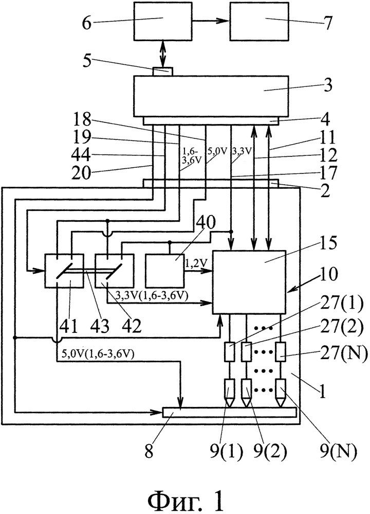 Устройство для считывания данных с микросхем