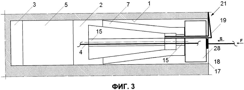 Способ установки в полости выработки в виде шпура или скважины композиционной затвердевающей забойки при буровзрывных работах и упорное средство для его осуществления (варианты)