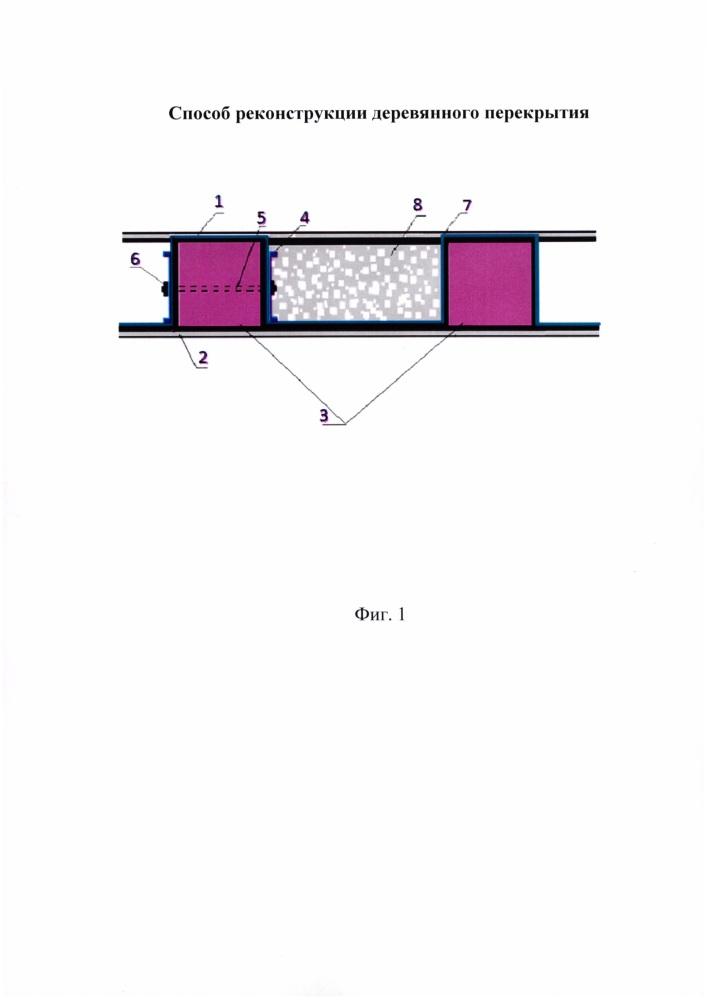 Способ реконструкции деревянного перекрытия зданий и сооружений