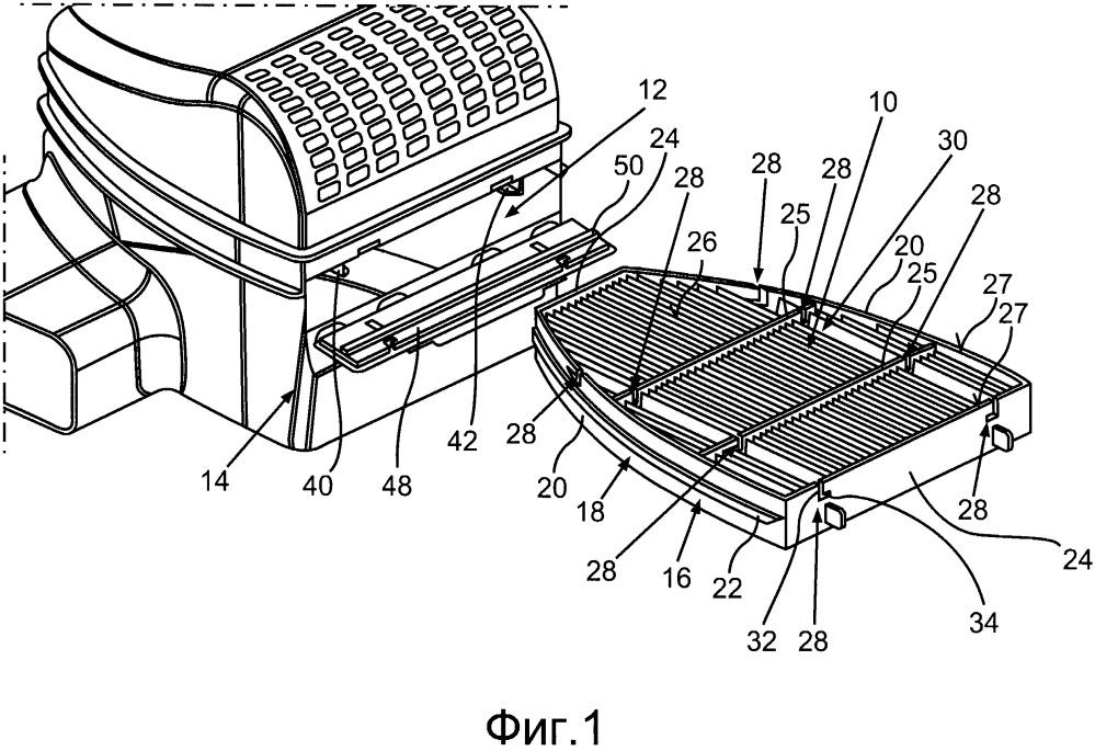 Воздушный фильтр вентиляционной установки автомобиля