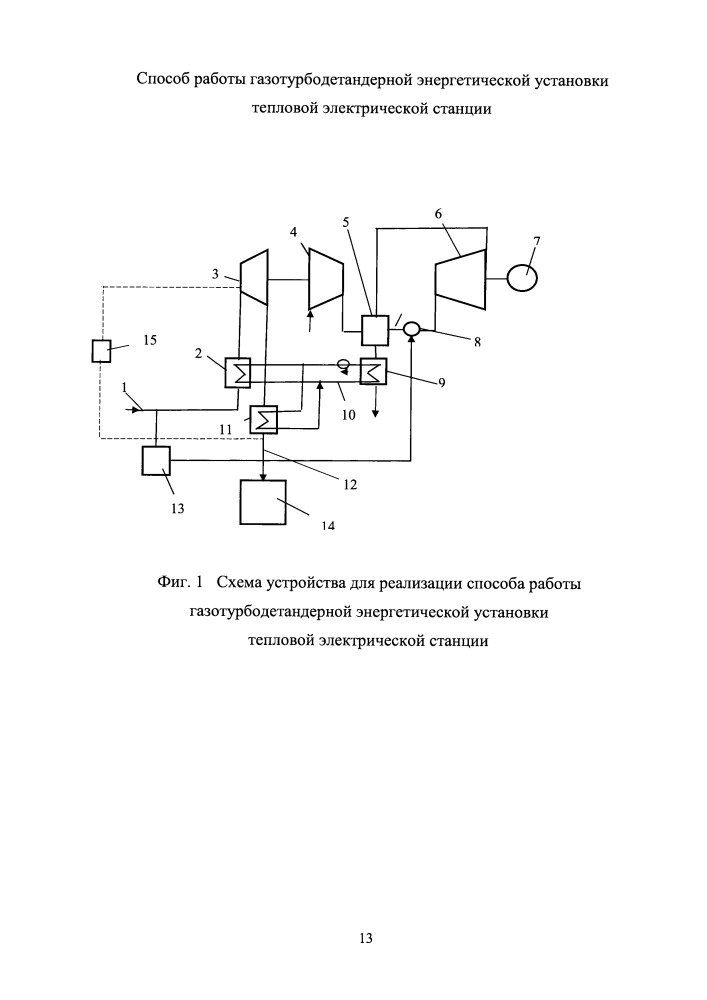 Способ работы газотурбодетандерной энергетической установки тепловой электрической станции