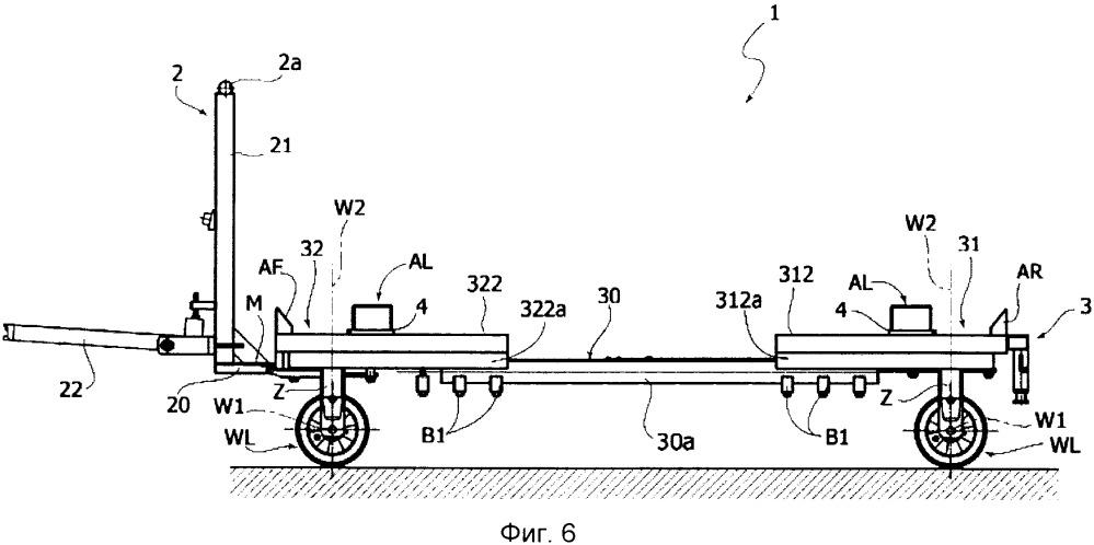 Тележка для транспортировки контейнеров для деталей или компонентов в промышленной установке