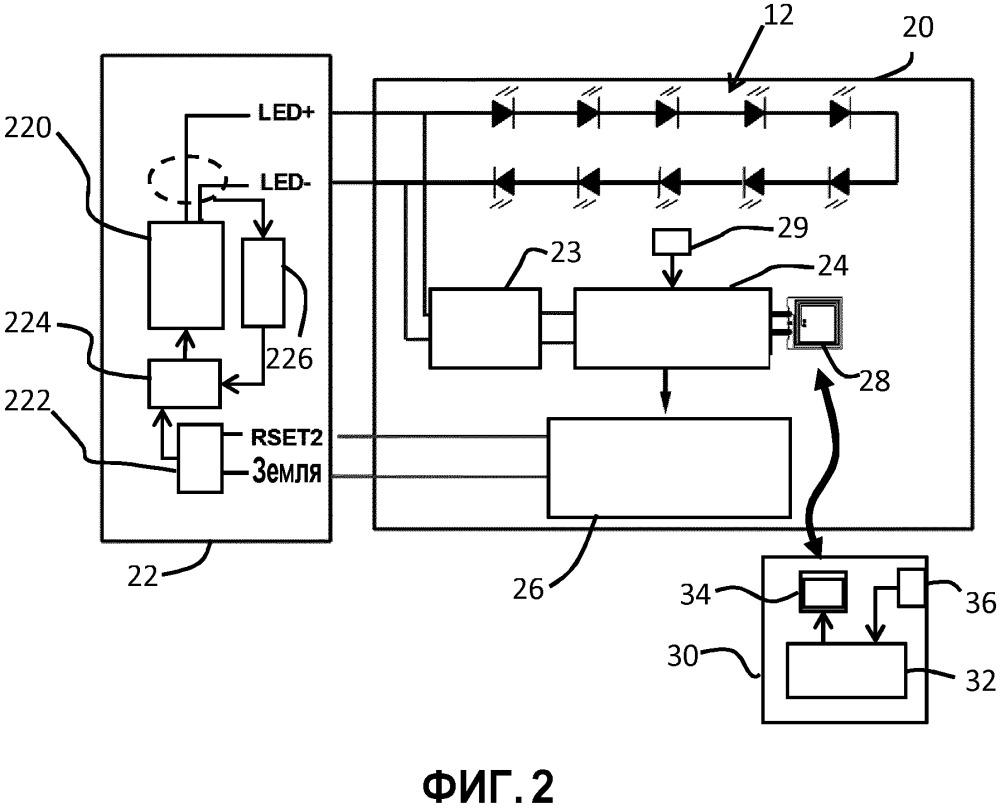 Модуль твердотельного освещения, цепь освещения и способы управления освещением