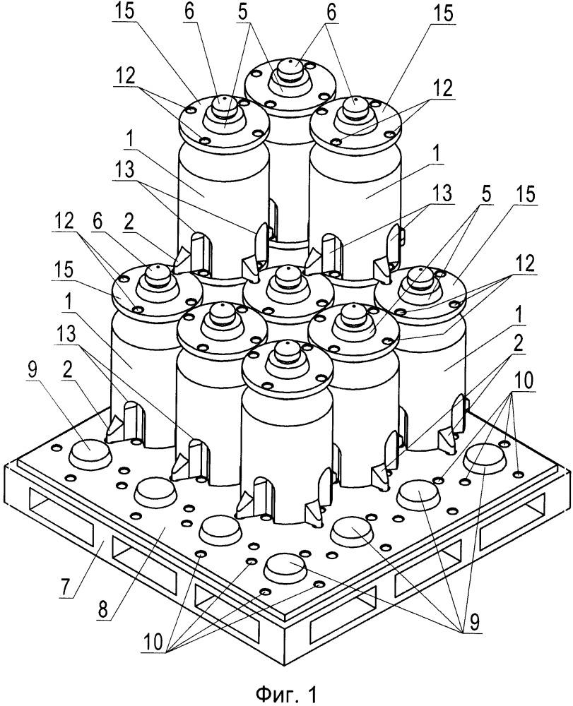 Способ штабелирования пластмассовых контейнеров с жидкими и сыпучими продуктами