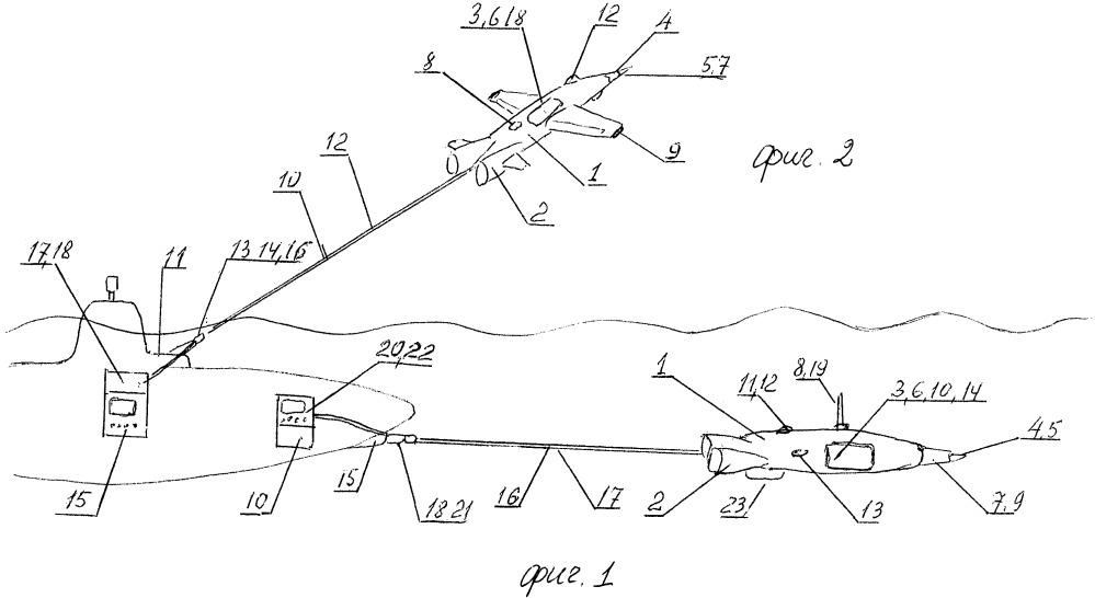 Система упреждающего зондирования пространства перед движущимся надводным или подводным судном