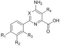 Контроль широколиственных культур с помощью 6-арилпиколинкарбоновых кислот, 2-арилпиримидинкарбоновых кислот или их солей или сложных эфиров