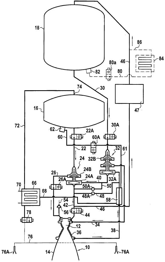Устройство для создания избыточного давления в топливном баке ракетного двигателя