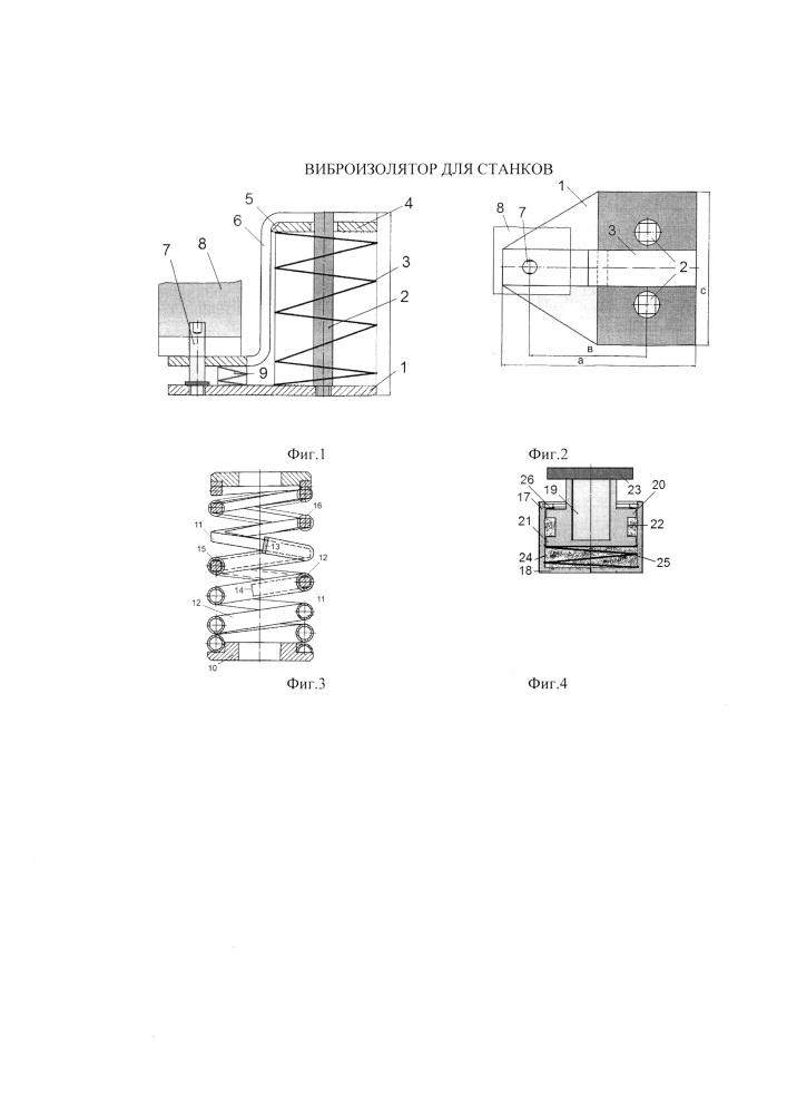 Виброизолятор для станков
