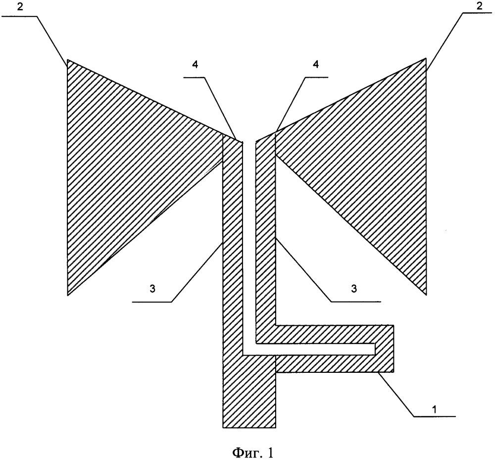 Плоский широкополосный вибратор