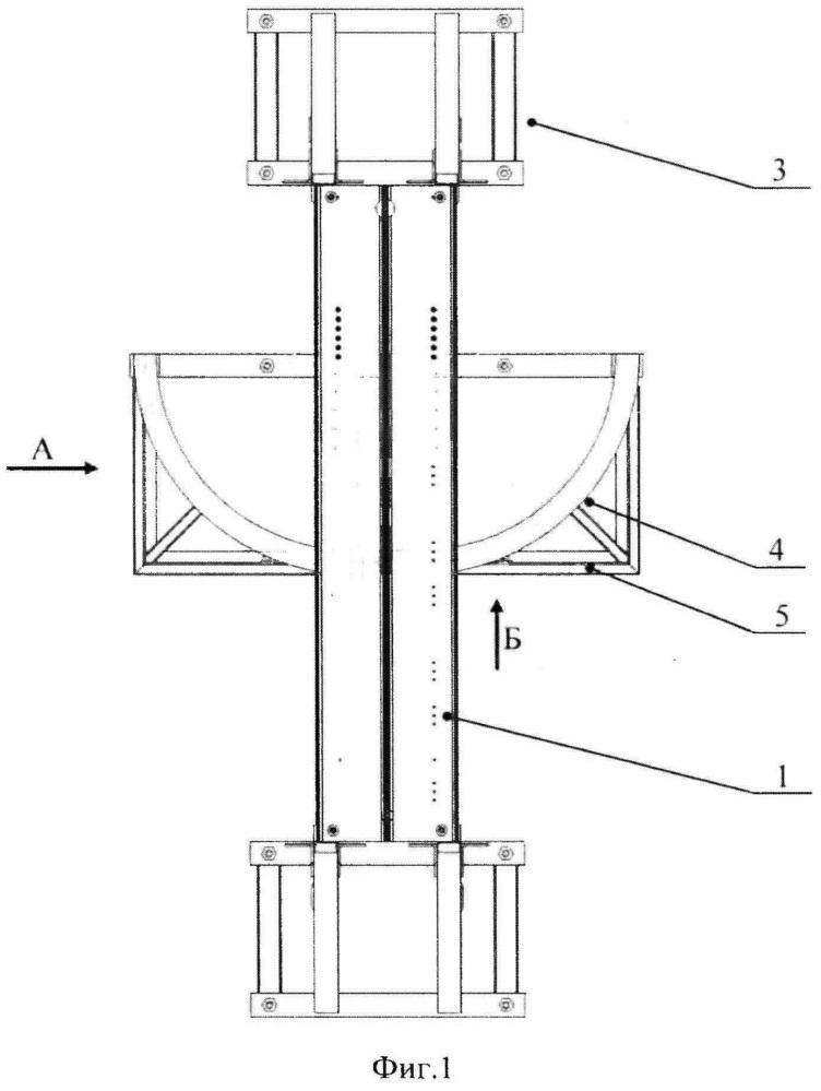 Стенд для моделирования воздействия аэродинамической нагрузки на раскрывающиеся элементы летательного аппарата