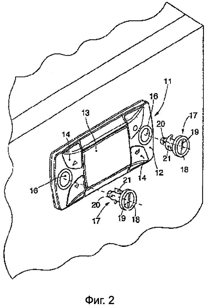 Электронный прибор для измерений, кондиционирования и регулирования и соответствующий способ панельной сборки