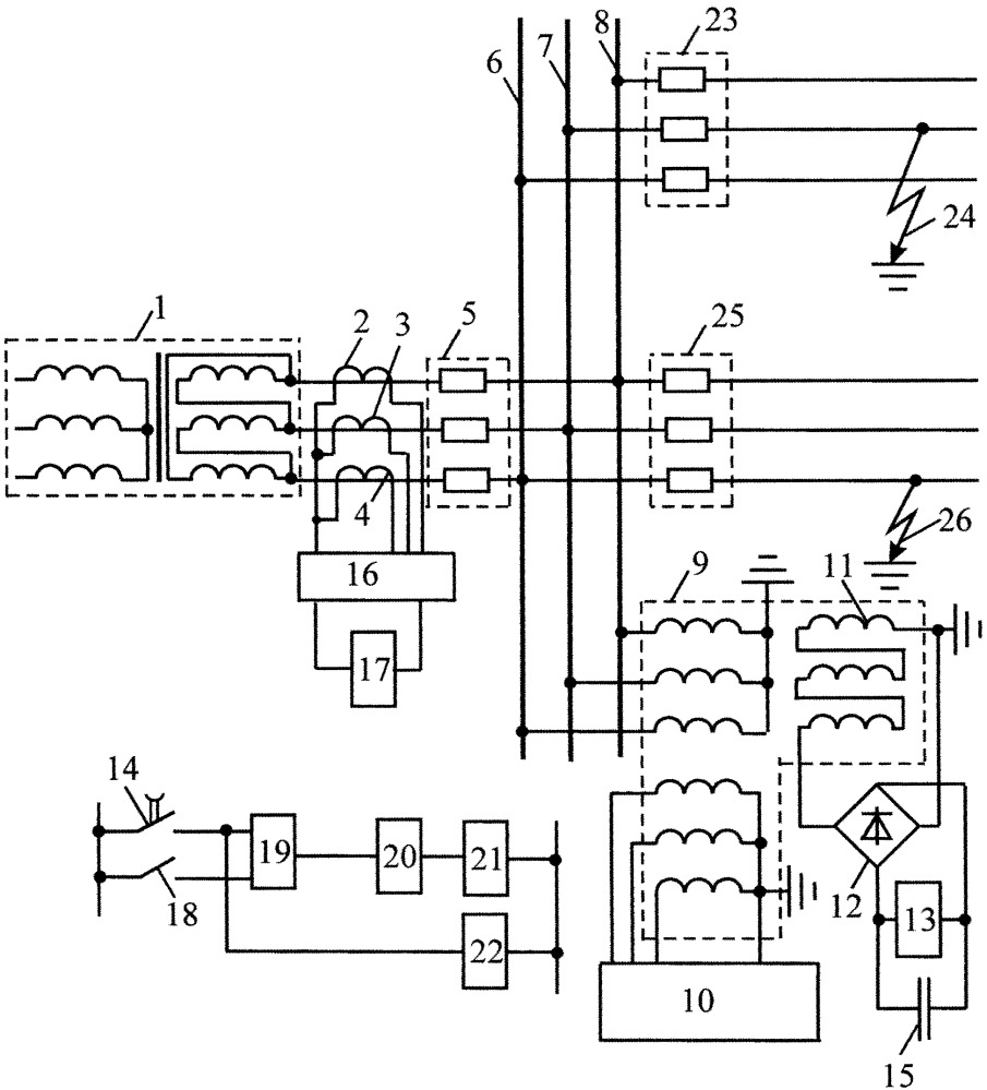 Устройство для регистрации двойных замыканий на землю в сетях с изолированной нейтралью